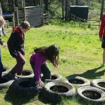 Tyres at the Challenge Course
