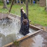 Taking the plunge at the Rope Swing at Crawfordsburn
